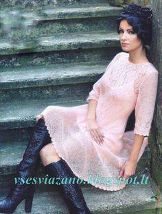 "Photo from album ""МОДЕЛИ"" on Yandex. Lace Knitting Stitches, Knitting Designs, Mohair Yarn, Mohair Sweater, Knit Skirt, Lace Skirt, Angora, Western Dresses, Diy Dress"