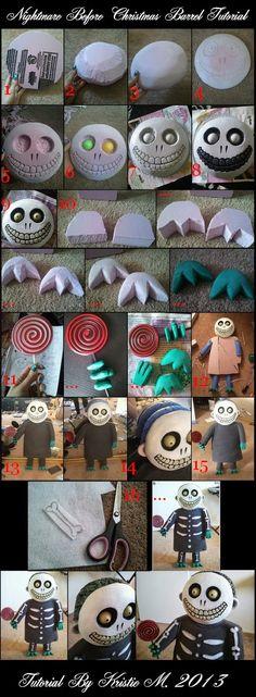 DIY Nightmare Before Christmas Halloween Props: Nightmare Before Christmas  Barrel Prop Tutorial