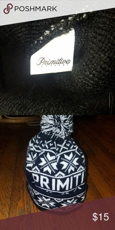 Primitive beanie Small with like new beanie worn a handfull of times needs to find a new home, vert warm and soft great for the cold. Have any qustions just ask! Primitive Accessories Hats