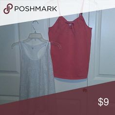GAP top +1 free net Aeropostale top 1 spaghetti strap top in a light orange color with embroidery size 14-16 XXL and 1 white net shirt size 6 for Free if you purchase the Gap GAP Tops Tank Tops