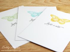 Butterfly note card set:  Stamps - Hero Arts antique engravings, Waltzingmouse Stamps say it with style  Inks - Martha Stewart meyer lemon, bamboo, ocean