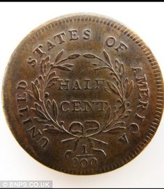 Rare half cent coin discovered in a matchbox during attic clear-out sells for Heads or tails: Family members of Mark Hillary were & with their luck at finding his rare coin in an attic Rare Coins Worth Money, Valuable Coins, Buy Coins, American Coins, Coin Worth, Gold And Silver Coins, Coin Values, Antique Coins, Old Money
