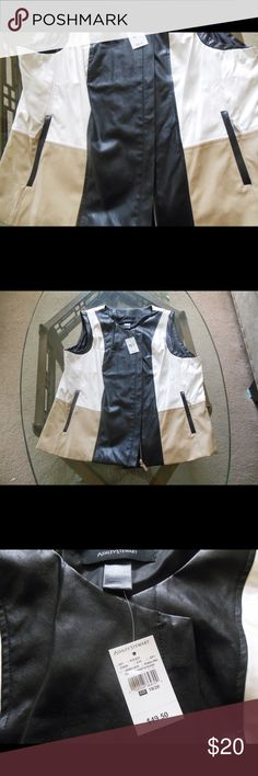 💕SALE💕Polyurethane Vest Brand new with tags. Size 18/20 Ashley Stewart Jackets & Coats Vests
