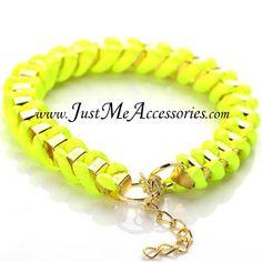Neon Yellow Bracelet - $12.00