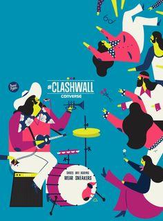 converse x dawid ryski | #clashwall by Dawid Ryski, via Behance