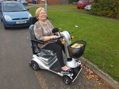 Mrs Delaney on her Quingo Plus mobility scooter find out which is right for you with a demo here http://contact.quingoscooters.com/social-mobility-scooters