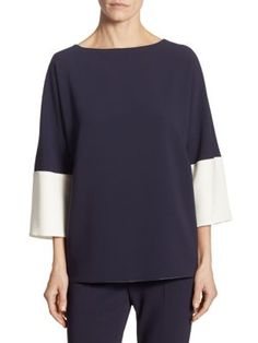 MAX MARA Kelly Colorblock Top. #maxmara #cloth #top