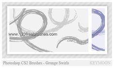 Grunge Swirl Set - Download  Photoshop brush http://www.123freebrushes.com/grunge-swirl-set/ , Published in #GrungeSplatter. More Free Grunge & Splatter Brushes, http://www.123freebrushes.com/free-brushes/grunge-splatter/ | #123freebrushes