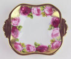 Tidbit Candy Dish Royal Albert Crown China Old English Rose Heavy Gilt | eBay