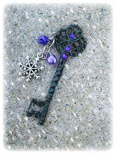 Frosty Glitter Blast Fantasy Key Midnight by ArtbyStarlaMoore, $17.00