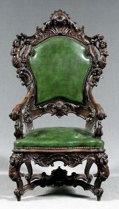116: Italian rococo style carved armchair, : Lot 116