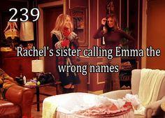 Friends #239 - Rachel's sister calling Emma the wrong names
