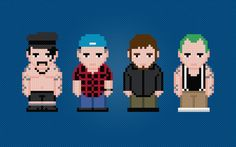Red Hot Chili Peppers Rock Band  Digital PDF by AmazingCrossStitch