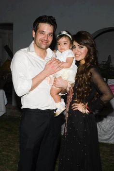 Pakistani actor/model Mikaal Zulfiqar with his cute baby daughter