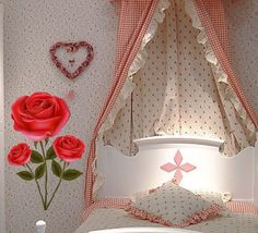 Find More Wall Stickers Information about Removable Home Decoration Wall Sticker with Big Roses Wedding Wall Stickers Home Decor Best Gifts for Girlfriend Boyfriend,High Quality sticker tribal,China stickers fluorescent Suppliers, Cheap gifts for newborn boys from Han's Wonderland on Aliexpress.com