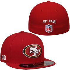 New Era San Francisco 49ers Men's Custom On-Field 59FIFTY Football Structured Fitted Hat