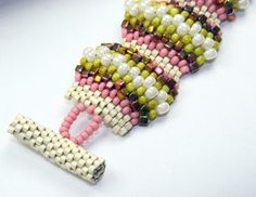 Beading Tutorial Seed Bead bracelet Pattern Flat by Cabinfeverclay