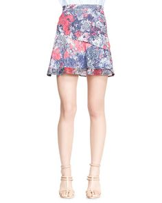Printed Asymmetric Flare Skirt by Nonoo at Neiman Marcus.