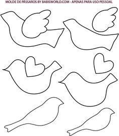 Best Photos of Bird Pattern Template - Bird Pattern Template, Paper Bird Template and Paper Bird Ornament Template Bird Template, Ornament Template, Butterfly Template, Bird Crafts, Felt Crafts, Paper Crafts, Felt Birds, Applique Patterns, Applique Templates