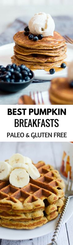 Best Paleo Pumpkin Breakfasts – Paleo Gluten Free Eats The best Paleo Pumpkin breakfast recipes! Delicious Gluten free and Paleo breakfast ideas for easy pumpkin pancakes, waffles, muffins, and more! Healthy and inspiring food. Pumpkin Pancakes Easy, Pumpkin Breakfast, Healthy Breakfast Recipes, Breakfast Ideas, Healthy Breakfasts, Healthy Recipes, Paleo Pumpkin Recipes, Best Gluten Free Recipes, Whole Food Recipes