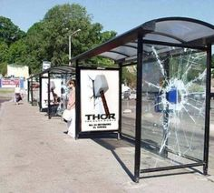 Bus stop marketing for Thor: The Dark World