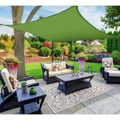 Shop for Soara Green Rectangle Sun Shade Sail Canopy by Havenside Home. Get free delivery On EVERYTHING* Overstock - Your Online Garden & Patio Shop! Backyard Patio, Backyard Landscaping, Pergola Patio, Landscaping Ideas, Pergola Swing, Metal Pergola, Black Pergola, Cheap Pergola, Patio Sails