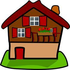 59 fantastiche immagini in houses su pinterest cartoon house rh pinterest com Funny Haunted House Carnival Clip Art