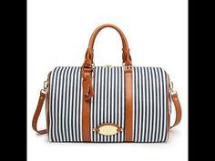 08494fd096c9 Travel Bag Canvas Big Duffles Vertical Strip Blue-white Women and Man s  Large Capacity Handbag Unisex Tourist Autumn Hand Bag