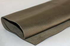 Army Green Genuine Leather, Metallic  Leather, Cowskin by JLLeatherSupplies on Etsy