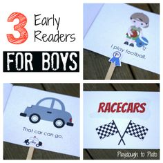 Boys will love learning common sight words using these printable easy reader books!! {Playdough to Plato}