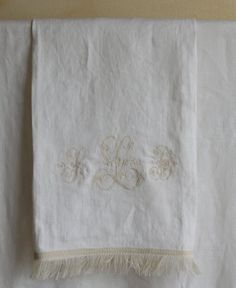 Monogrammed Hand Towel hand made by me with by OhSoVerySherry, $49.00