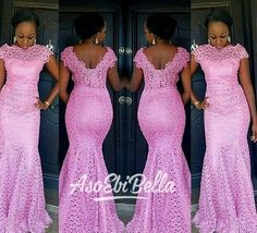 AsoEbiBella                                                                                                                                                     More                                                                                                                                                                                 More African Lace Dresses, Lace Dress Styles, African Dresses For Women, African Fashion Dresses, African Print Fashion, African Wear, African Attire, African Women, Bellanaija Weddings