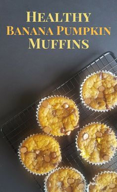 Healthy Pumpkin Banana Muffins - A Sparkly Mess