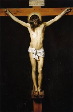 Christ Crucified is a 1632 painting by Diego Velázquez depicting the Crucifixion of Jesus. The work, painted in oil on canvas, measures 249 × 170 cm and is owned by the Museo del Prado. Good Friday Images, Happy Good Friday, Religious Paintings, Religious Art, Caravaggio, Diego Velazquez, Fra Angelico, Baroque Art, Christian Art