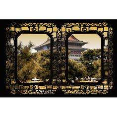 """World Menagerie China - Window View V Photographic Print on Wrapped Canvas Size: 18"""" H x 26"""" W x 0.75"""" D"""