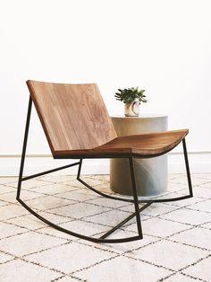 Modern Rocking Chair. Reclaimed Wood Furniture. Nursery Rocker. Solid Wood Modern Furniture. eco friendly rocking chair. green rocker. SOBU rocker.