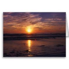 Washington state  ocean sunset birthday card
