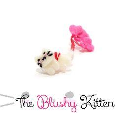 Suspended Love Kitten Ear cuff and Stud Earrings set, Customised, Kitten EarCuff, Felt Ear Cuff, Heart Earring Holder, Felt Balloon Ear Cuff by TheBlushyKitten on Etsy