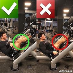Leg press technique: don't lock out your knees! Chest Workouts, Fun Workouts, At Home Workouts, Muscle Fitness, Health Fitness, Gym Fitness, Workout Guide, Leg Press Workout, Gym Tips