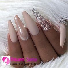 Id prefer my short natural nails painted with gel but love these colors toget . - Id prefer my short natural nails painted with gel but love these colors toget Nails Estás en el l - Coffin Nails Long, Long Nails, My Nails, Long Nail Art, Short Nails, Nude Nails With Glitter, Kylie Nails, Glitter Converse, Long Nail Designs