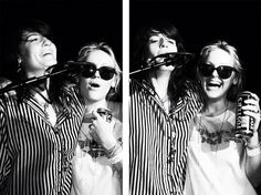 Florence Welch and Laura Marling