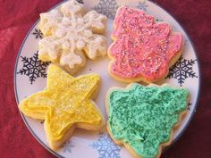Dimples & Delights: Soft & Thick Cut-Out Cookies Sugar cookies Christmas Sugar Cookies, Christmas Sweets, Holiday Cookies, Christmas Eve, Christmas Recipes, Holiday Snacks, Christmas Foods, Holiday Drinks, Christmas Christmas