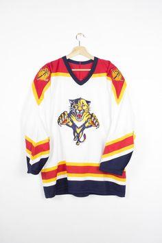Vintage ccm florida panthers hockey jersey - nhl - sewn logo - mens large 62e1ec9ea