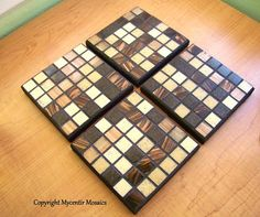 Neutral Colored Mosaic Coasters by mycentirmosaics on Etsy, $24.50