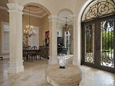 Opulent entry - foyer - Canterra Iron front doors - Olde Naples, Fl