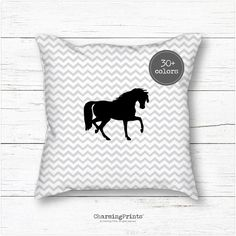 Pillow decor personalized custom horse horse by CharmingPrintsShop