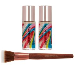 Josie Maran Super-size Vibrancy Foundation with Brush in Juicy (Medium) $55 ($126.67 value)