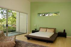 mooie groen kleur in slaapkamer