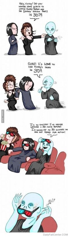 "Voldemort goes to the movies. Who ""nose"" what will happen....."