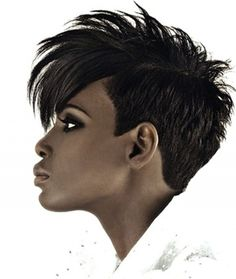 Short hair and more powerful than you think! If you want to make a strong and sexy statement with your hair,this avant-garde mohawk pixie will give you nothing but a seductive allure!